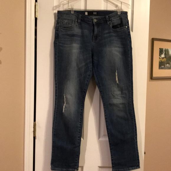 Kut from the Kloth Denim - KUT Catherine Boyfriend Jeans 10 Distressed